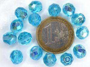 0090315 Aquamarine AB facet 8 mm. 15 stuks-0