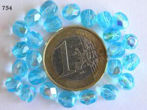 0090318 Aqua blauw facet met AB 6 mm.-0