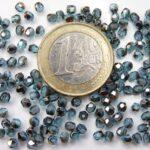 0090333 Aquamarine Bronze Iris facet. 3mm. 75 Stuks-0