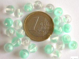0100007 Aqua met transparant rond 7 mm.-0