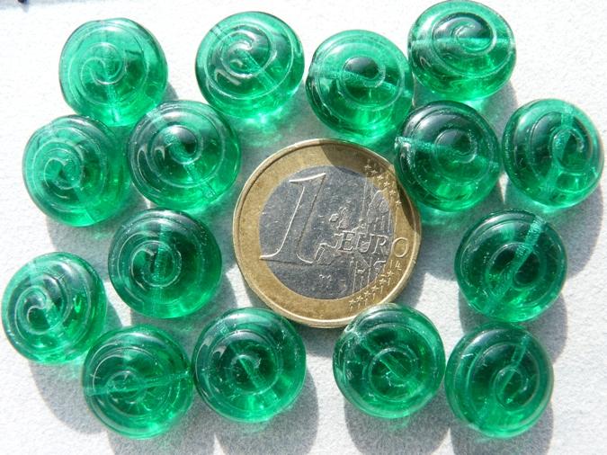 0100066 Emerald groene ronde schijf-0