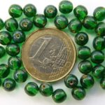 0100123 Emerald Travertin round 6 mm. 40 Pc.-0