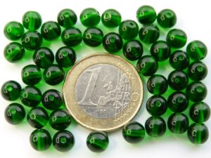 0100128 Medium Green round 6 mm. 45 Pc.-0