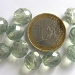 0100340 Crystal green luster facet 10 mm.-0