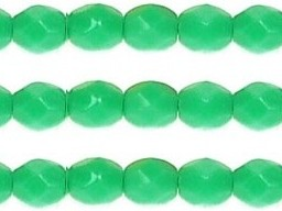 0100349 Opaque Green Turquoise facet, 3 mm.-0