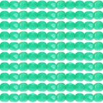 0100350 Green Turquoise facet, 4 mm.-0