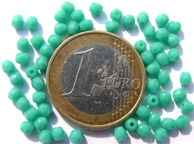 0100351 Green Turquoise facet 3 mm. 60 Pc.-0