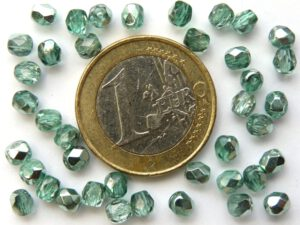 0100355 Crystal Half Green Apollo facet. 4 mm. 40 St.-0