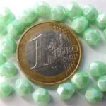0100360 Luster Opaque Azur Turquoise facet, 6 mm. 20 Pc.-0