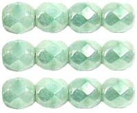 0100361 Luster Opaque Azur Turquoise facet 4 mm. 40 Pc.-0
