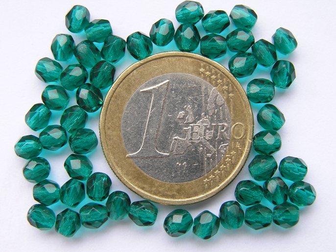 0100372 Emerald groen facet 4 mm.-0