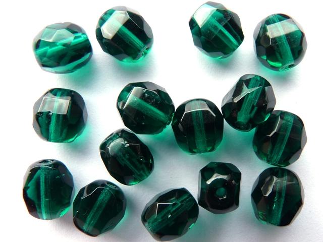 0100375 Dark Emerald Lamel facet 8 x 6 mm.-0