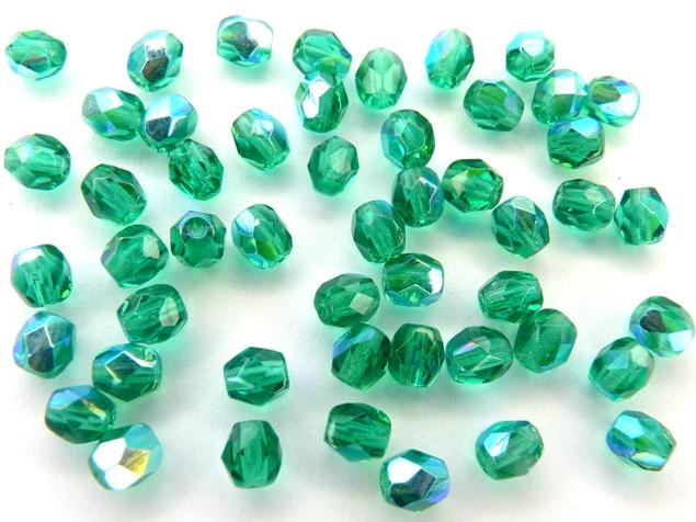 0100384 Emerald met AB facet 4 mm.-0