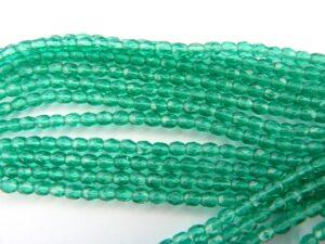 0100386 Emerald groen facet 3 mm.-0