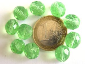 0100406 Groen facet 10 mm.-0