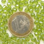 0100408 Light Olivine Hematite facet 4 mm. 50 stuks-0