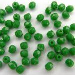 0100423 Opaque Forest green facet 3 mm. 60 stuks-0