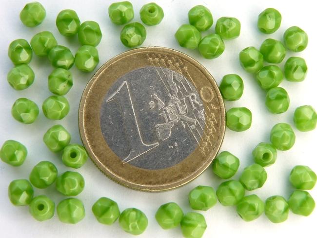 0100496 Green Silk facet 4 mm. 50 stuks-0