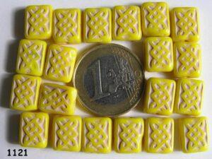 0130010 Dekkend geel met wit rechthoekig-0