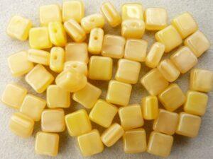 0130013 Geel gemeleerd vierkantje, 50 stuks.-0
