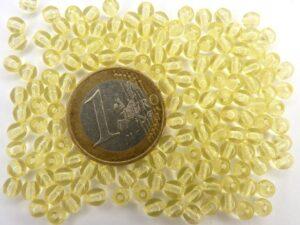 0130026 Zacht geel rond 4 mm. 150 Pc-0
