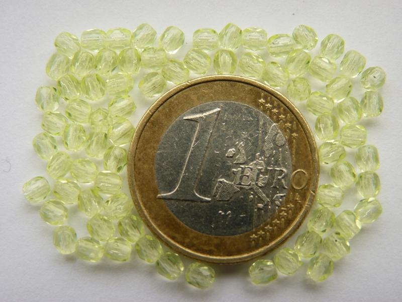 0130100 Geel facet 3 mm.-0