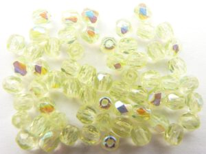 0130101 Citrine Yellow Geel facet met AB 3 mm.-0