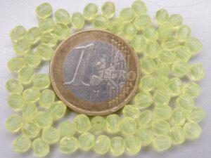 0130114 Opal Jonquil facet 4 mm. 50 stuks-0