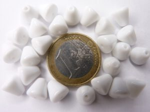 0140012 Wit Kegeltje, 8 x 8 mm, 25 stuks-0