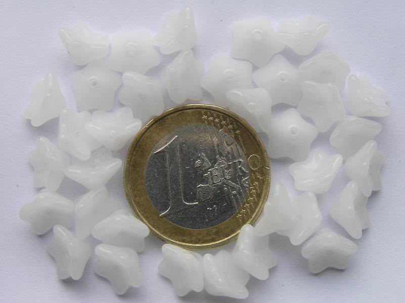 0140052 Wit Alabaster kelkvormige bloem 30 St.-0