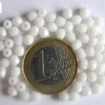 0140203 Opaque White facet 4 mm.-0