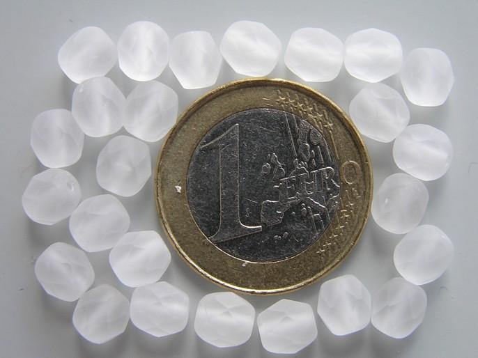 0140218 Matte Crystal facet, 6 mm.-0