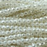 0140234 White Pearl Facet geslepen 4 mm. 50 stuks-0