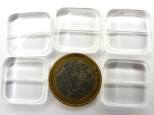 0150015 Crystal groot dik vierkant. 5 stuks-0