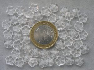 0150031 Transparant bloemetje 7 x 2 mm.-0