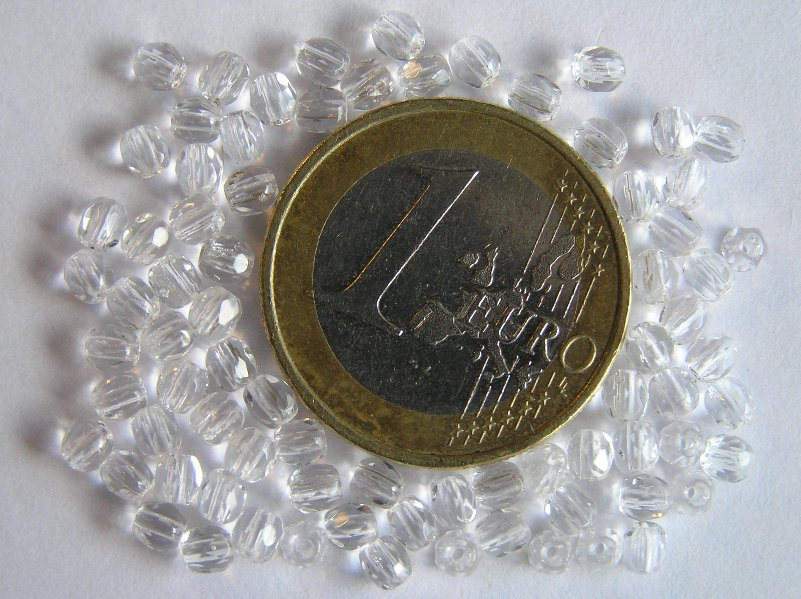 0150100 Crystal facet 3 mm. 75 Pc.-0