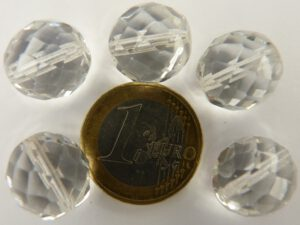 0150106 Crystal facet 14 mm, 5 stuks.-0