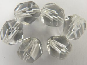 0150111 Crystal nuggets facet, 12 mm. 6 stuks-0