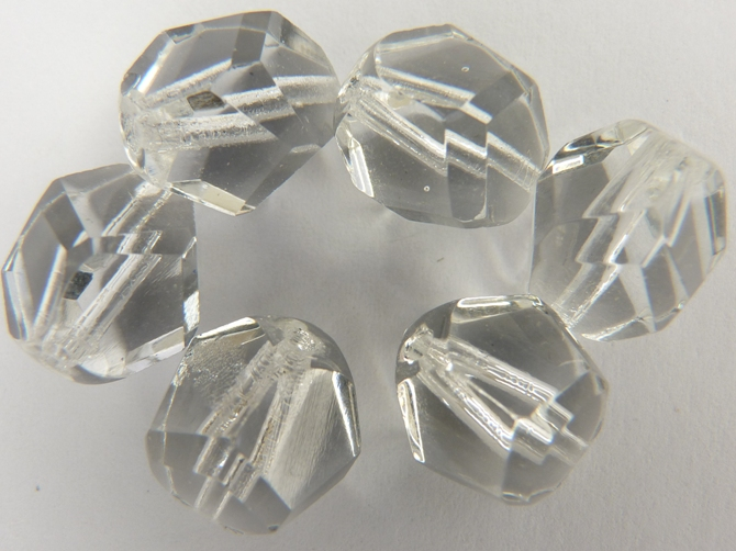 0150111 Crystal nuggets facet, 12 mm. 6 stuks-0