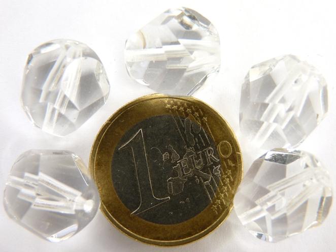 0150112 Crystal Nuggets facet, 14 mm. 5 stuks-0