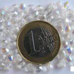 0150121 Crystal ( transparant) facet met AB 4 mm.-0