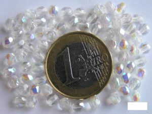0150121 Crystal ( transparant) facet met AB 4 mm.-0