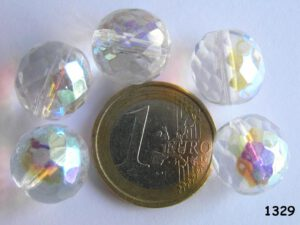 0150127 Crystal facet met AB 14 mm.-0