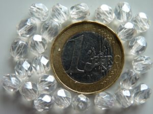 0150137 Crystal met hematiet glans facet 6 mm.-0