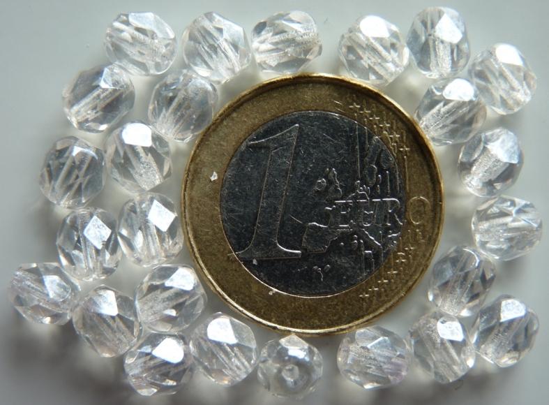 0150137 Crystal met hematiet glans facet 6 mm.-0