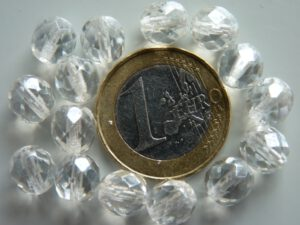 0150138 Crystal met hematiet glans, facet 8 mm.-0
