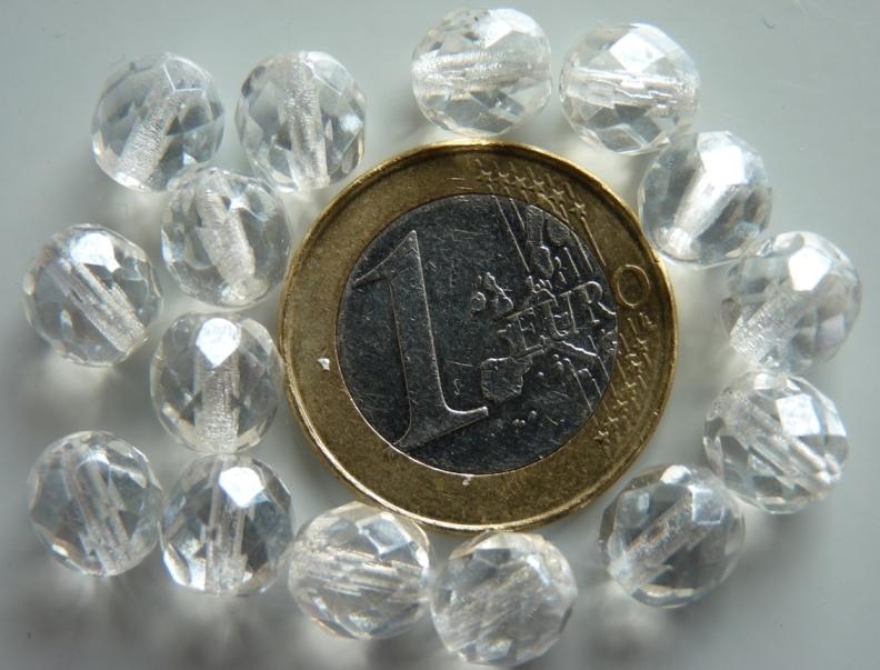 0150138 Crystal met hematiet glans, facet 8 mm.-0