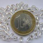 0150141 Transparant facet silver inside 4 mm. 50 Pc.-0