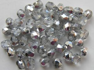 0150145 Crystal half Labrador facet 4 mm. 50 Pc.-0