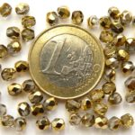 0150153 Crystal Half Dorado facet 3 mm. 50 Stuks-0